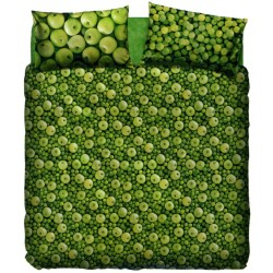 Complete Duvet Cover Set Bassetti La Natura Green Apple