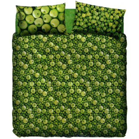 Complete Duvet Cover Set Bassetti La Natura Green Apple