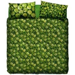 Complete Parure De Draps Bassetti La Natura Pomme Verte Avec Perfetto