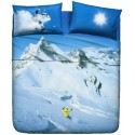 Complete Sheet Set Bassetti La Natura Snowboard In The Mountains