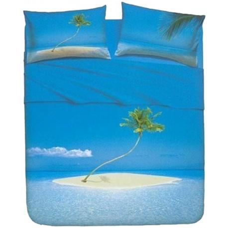 Complete Parure De Draps Bassetti La Natura Paradis Atoll