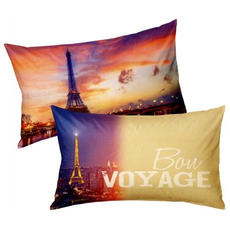 Taies D'Oreiller Bassetti Imagine Bon Voyage Paris V1-2129