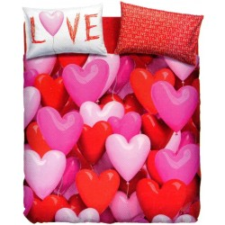 Complete Duvet Cover Set Bassetti Imagine Love Party Hearts Balloons
