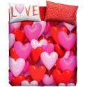 Complete Parure De Couettes Bassetti Imagine Love Party Coeurs Ballons