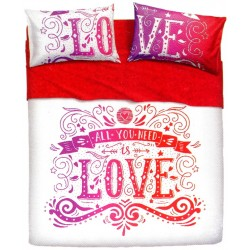 Complete Parure De Draps Bassetti Imagine Love Tatoo