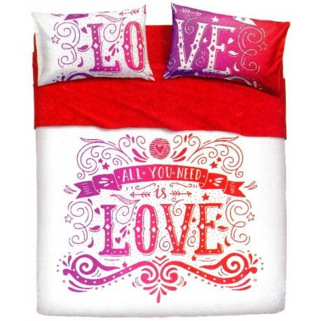 Completo Letto Bassetti Imagine Love Tatoo