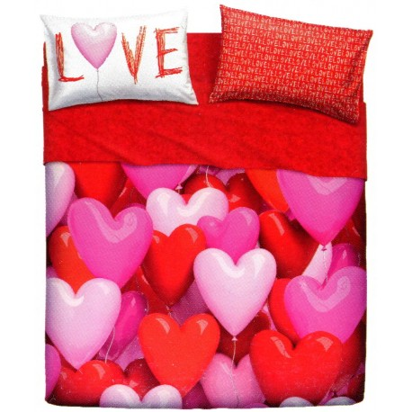 Complete Parure De Draps Bassetti Imagine Love Party