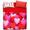 Complete Parure De Draps Bassetti Imagine Love Party Coeurs Ballons