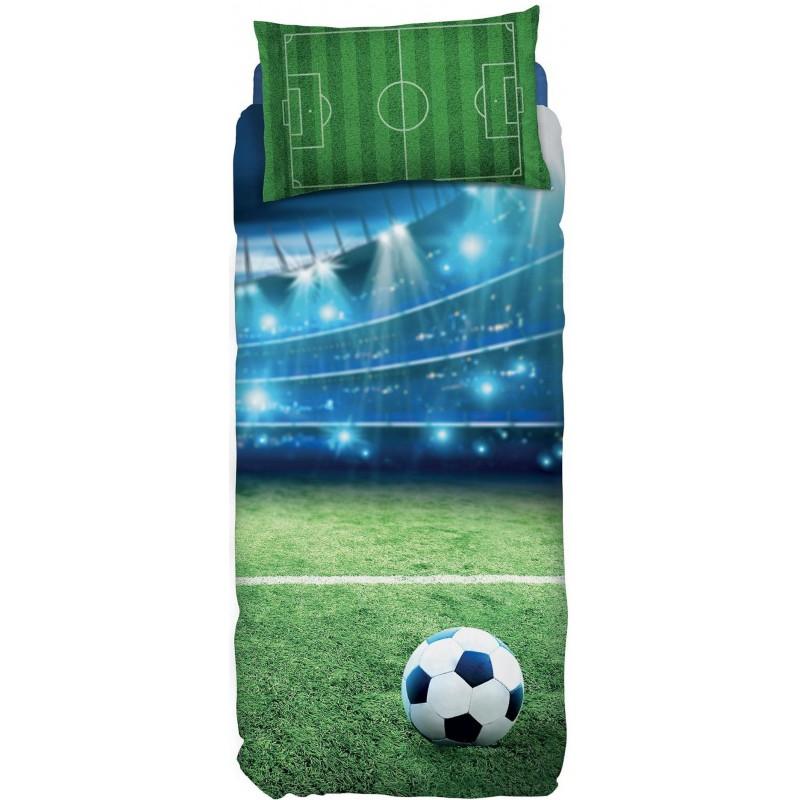 Parure Copripiumino Singolo Bassetti.Completo Copripiumino Singolo Bassetti Imagine Goal Campo Da Calcio