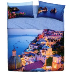 Complete Sheet Set Bassetti Imagine Sweet Place Seaside Village Amalfi