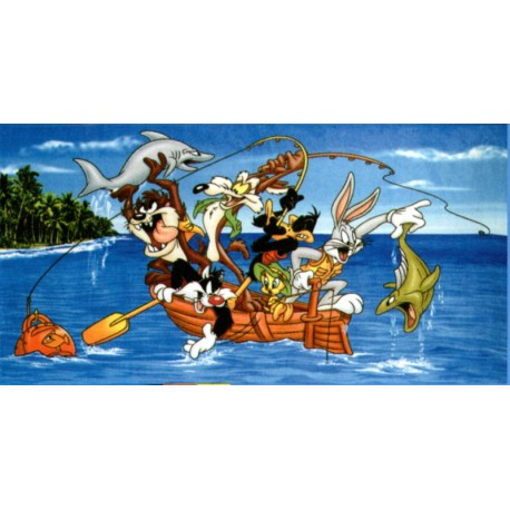 Beach Towel Bassetti Kids Warner Bros Family Warner Fishing V1