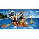 Drap De Plage Bassetti Kids Warner Bros Family Warner Fishing