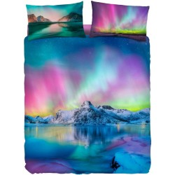 Complete Duvet Cover Set Bassetti Imagine Aurora Borealis Ice