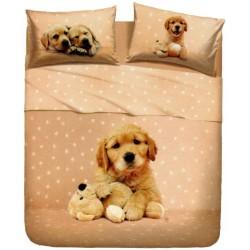 Completo Letto Copriletto La Natura Bassetti Golden Puppy V1