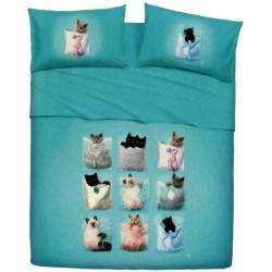 Completo Letto Copriletto La Natura Bassetti Kitties V1