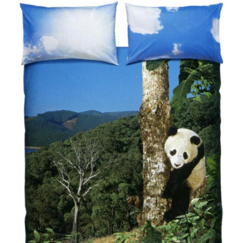 Lenzuola Matrimoniali Bassetti Pioggia Di Stelle.Parure Copripiumino Matrimoniale La Natura Bassetti Panda
