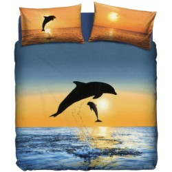 Complete Duvet Cover Set La Natura Bassetti Dolphins At Sunset V1