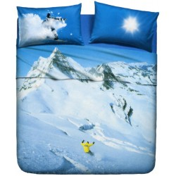 Bedcover Sheet Set La Natura Bassetti Snowboard V1