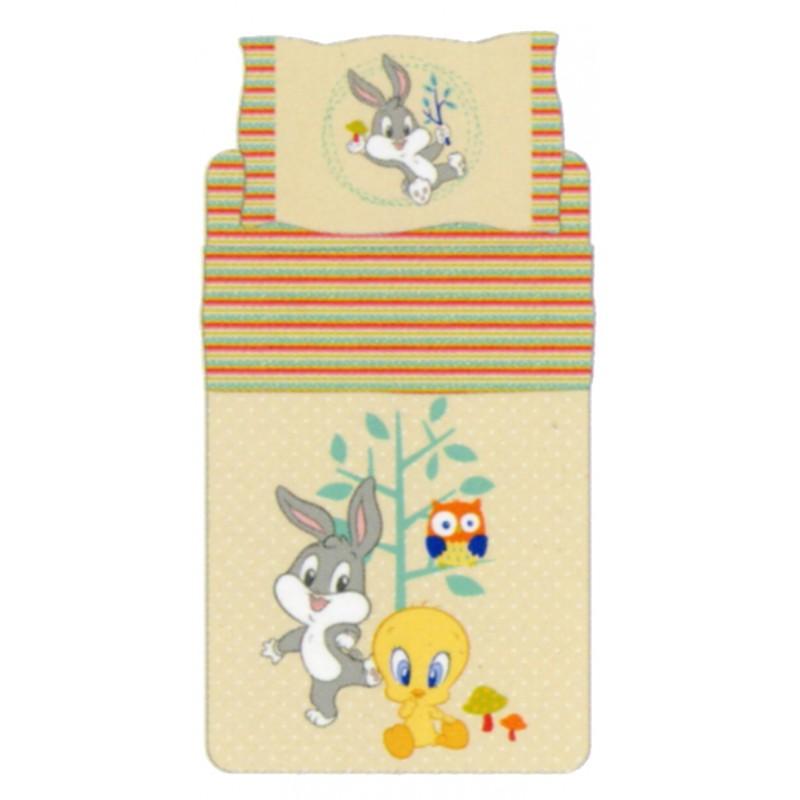 Bassetti Looney Tunes Lenzuola Copriletto.Completo Letto Bambino Bassetti Kids Titti E Bugs Bunny Nature Fantasy