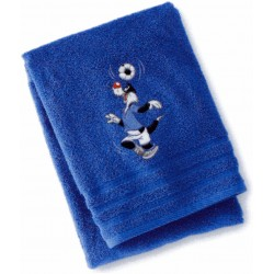 Terrycloth Towel Embroidered Sylvester The Cat Bassetti Kids Soccer Team V1