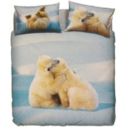 Complete Duvet Cover Set Bassetti La Natura Lovely Teddy Polar Bears