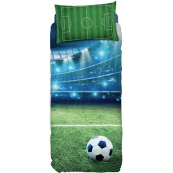 Complete Duvet Cover Set Bassetti Imagine Goal Football Field